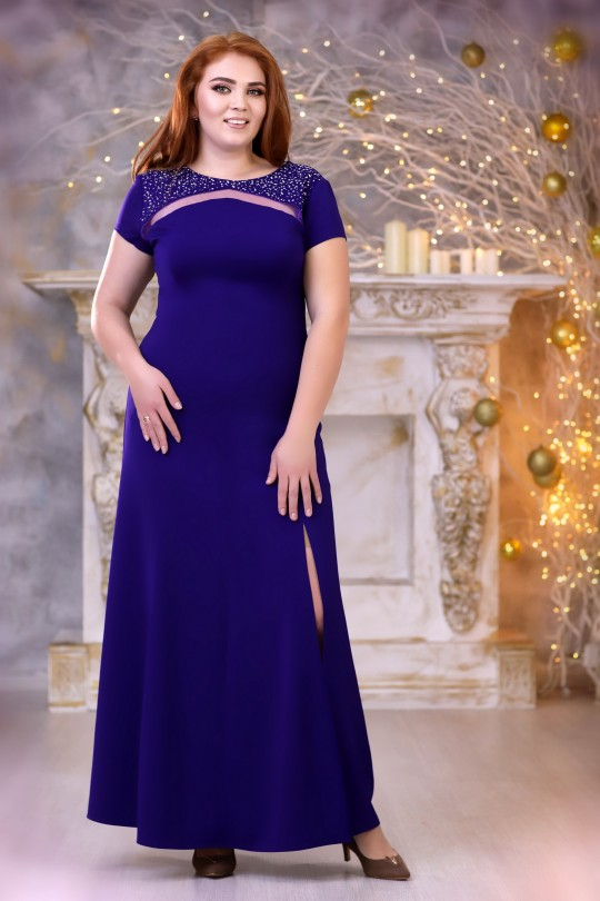 Вечернее платье в пол Цвет фиолетовый  Арт. 793