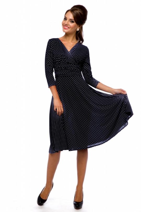Повседневное платье в горох Арт. 378