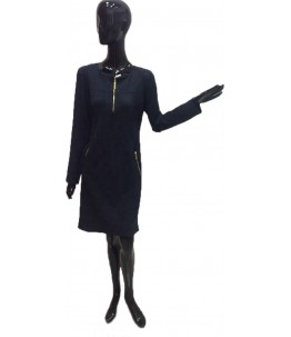 Замшевое платье Турция Цвет темно синий Арт. 602