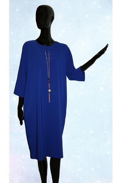 Синее платье свободного кроя. Турция Арт. 620