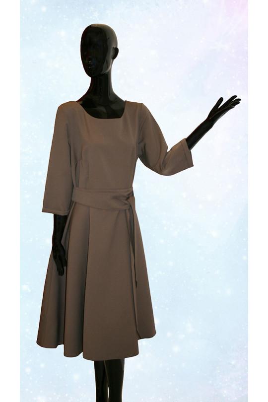 Повседневное платье большого размера Мокко Арт. 623