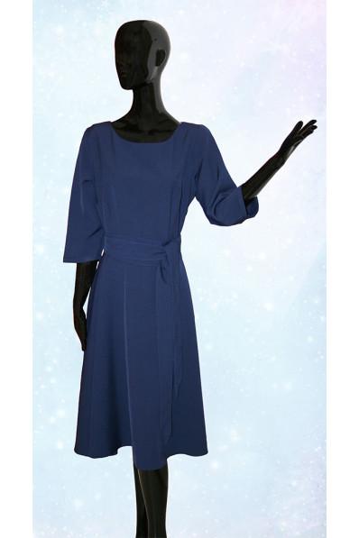 Повседневное платье большого размера Темно синий Арт. 635
