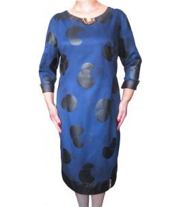 Повседневное платье большого размера Синее  Арт. 654