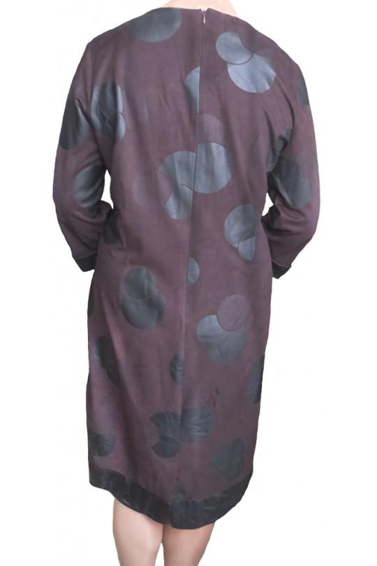 Повседневное платье большого размера Коричневое  Арт. 655