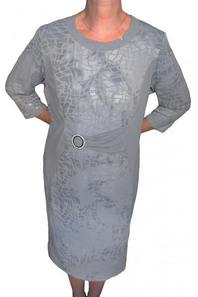 Серое платье с пряжкой Арт. 657