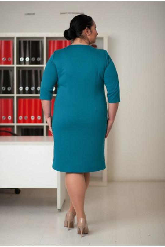 65a35cce846 Деловое платье полуприлегающего силуэта Арт. 663 купить в России