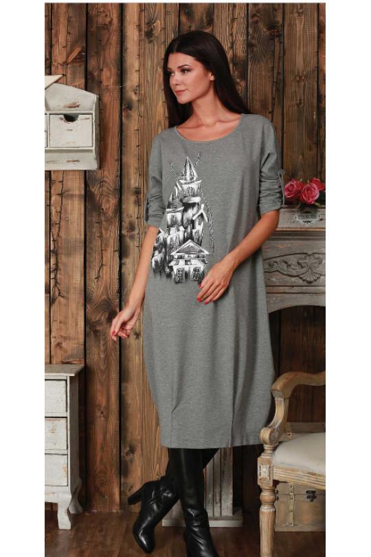Дизайнерское платье большого размера Арт. 672