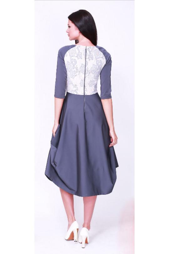 Стильное платье. Серый Арт. 675