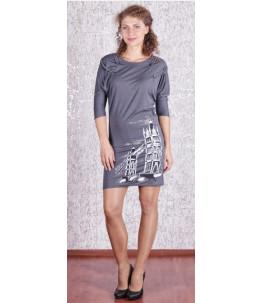 Стильное трикотажное платье. Хром Арт. 676