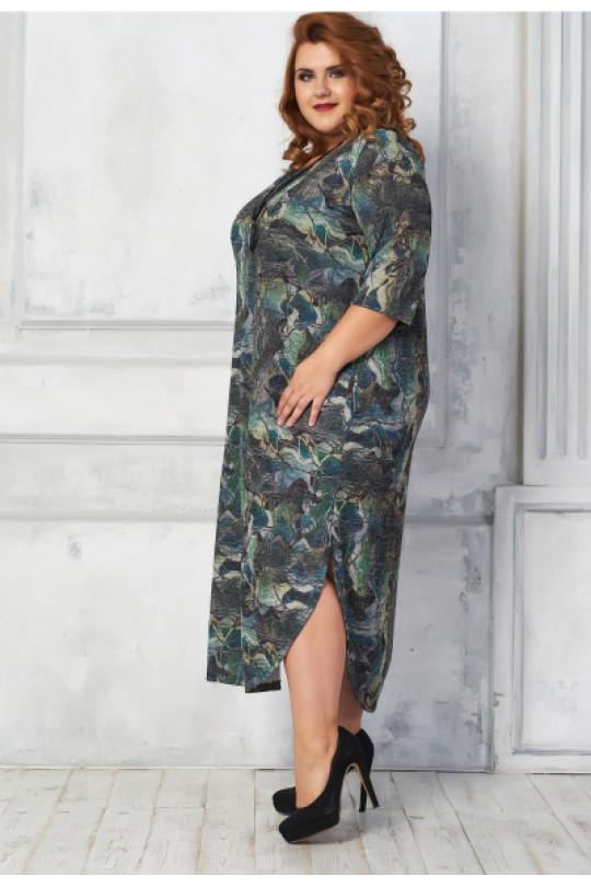 Стильное платье длины макси с карманами Арт. 890