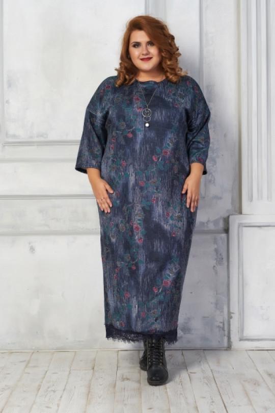 Стильное платье свободного силуэта Арт. 892