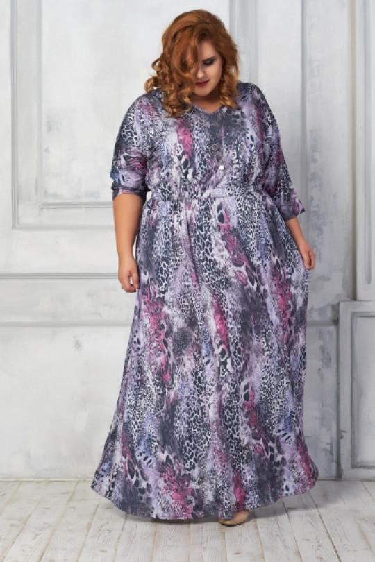 Эффектное платье-макси приталенного силуэта Арт. 895