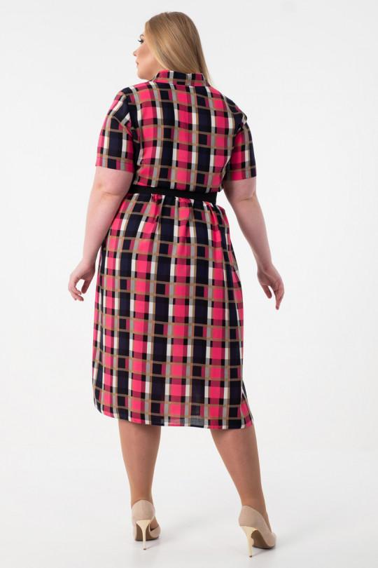 Платье рубашка большого размера  Арт. 1055