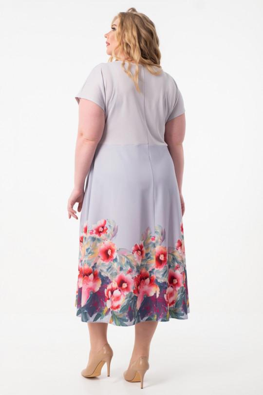 Летнее платье с цветами большого размера Арт. 1056