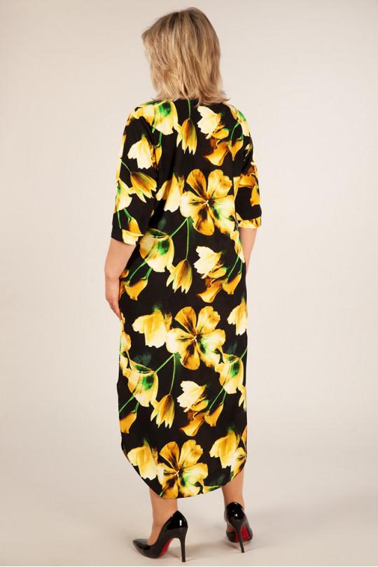 Повседневное платье Желтые цветы Арт. 969